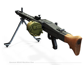 MG42 Low-poly 3D