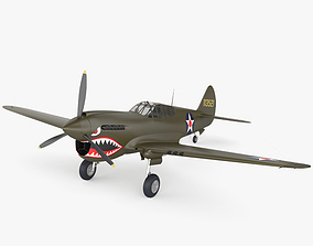 Curtiss P-40 Warhawk 3D model corporation