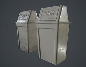 Plastic Dust Bin PBR Game Ready 3D asset