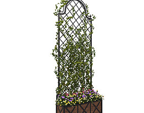 Pergola with flowers 3D model