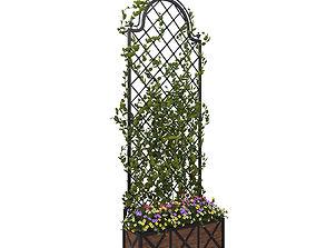 Pergola with flowers 3D model