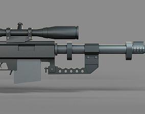 3D asset Low-poly Sniper Rifle