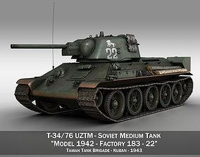 T-34-76 UZTM- Model 1942 - Soviet tank - 22