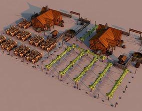 Farms Rome hellenic 3D model realtime
