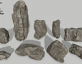 rocks 3D asset low-poly other