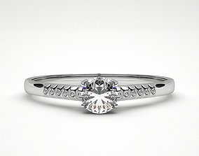 Ring Diamond engagement 3D printable model