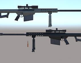 Modern Firearms Animated M107 3D asset