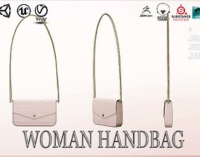 Woman Handbag Louis Vuitton 3D model game-ready