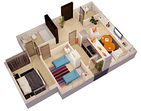 sofa 3d FLOOR PLAN