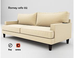 3D model Ramey sofa 02
