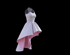 Summer Bridesmaid Dress 3D model