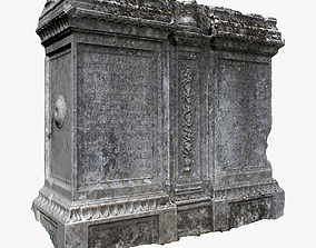 3D model low-poly Tombstone