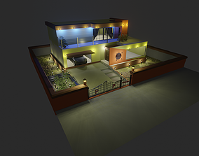 Modern Home Exterior Design 3D model