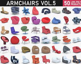 3D asset Armchairs Collection Vol 5