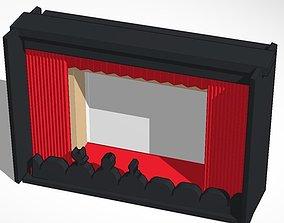 3D print model dark mystery science movie theater