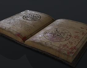 3D model Black Magic Book Opened