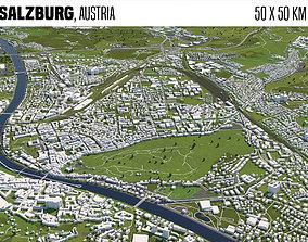 3D Salzburg Austria 50x50km