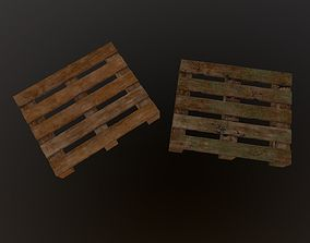 3D model realtime 2 in 1 - Pallet with 2 different Skins