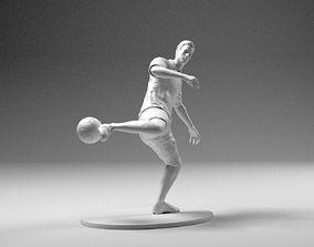 3D printable model Footballer 02 Footstrike 06 Stl