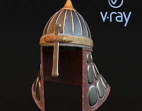Medieval helmet 3d model 1 realtime