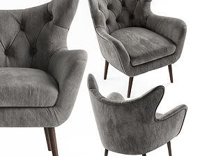 Bouck Wingback Chair 3D model