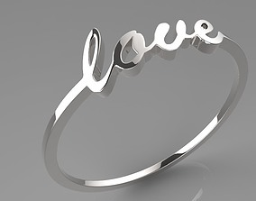 Simple Love bracelet 3D print model