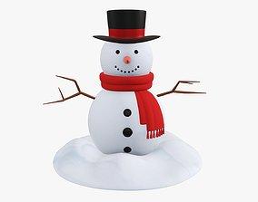 Snowman 01 3D model