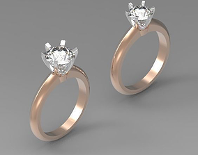 3D print model Solitaire engagement ring 1CT - 2CT