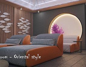 Media Room - Oriental Style 3D model