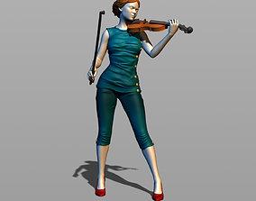 Pretty violinist 3D print model