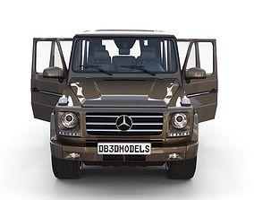 forest Mercedes Benz G Class with interior Brown 3D