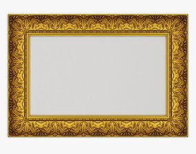 3D model Frame picture gold v8