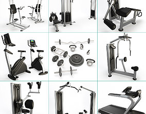 Fitness Machine Room Collection 3D model