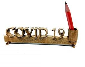 Covid pencil holder 3D printable model