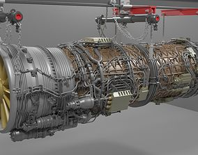 Turbo Jet Engine 3D model