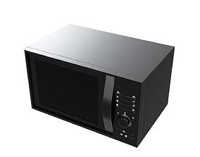 3D model Black Microwave luxury