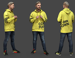 3D model casual Stylized Man Character