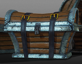 Treasure Chest Trunk - Game Ready 3D model