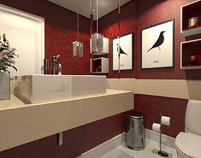 3D model lavatory
