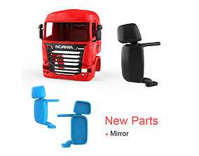 Scania R730 V8 Cabin - New Part - Mirror 3D print model