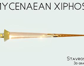 Mycenaean Bronze Sword 3D model