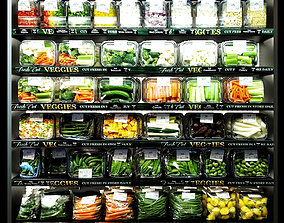Shelves with vegetables 3D