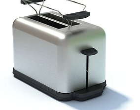 3D model Appliance Silver Toaster