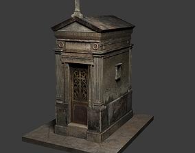 3D model Old Weathered Mausoleum leak