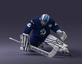 3D man hockey goalkeeper 1007