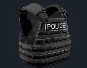 Police Officer Bulletproof Vest Game Ready 3D asset