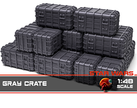 3D print model Star Wars Gray Crate 1-48 scale