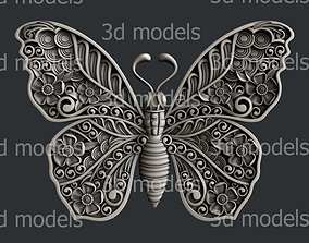 3d STL models for CNC router butterfly animal