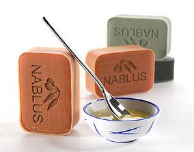 Natural Olive Soap 3D