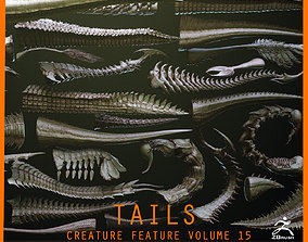 TAILS - 33 Tail Meshes and Curve Brushes 3D